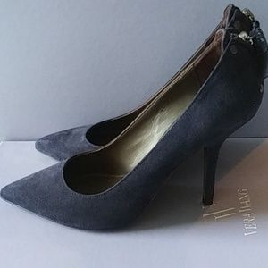 Vera Wang Navy Suede Pumps Size 7.5/38